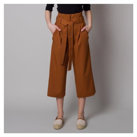 Dámské látkové kalhoty culottes hnědé 12619 Willsoor