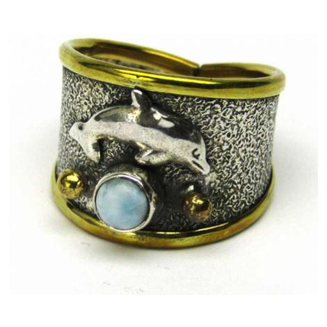 AutorskeSperky.com - Stříbrný prsten s larimarem - S4510