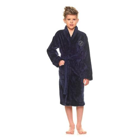 Chlapecký župan Elegant tmavě modrý kotva L&L Collection