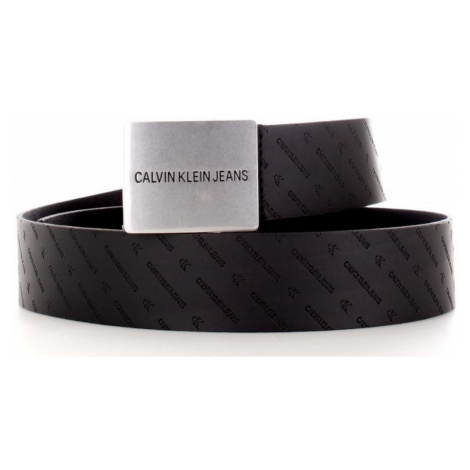 Calvin Klein Calvin Klein pánský černý opasek Uniform Plaque LTH