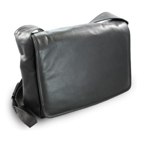 Černá dámská kožená klopnová kabelka Emalien Arwel