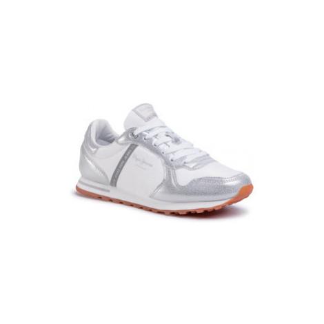 Pepe Jeans Sneakersy Verona W Mix PLS30983 Bílá