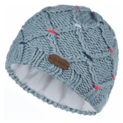 KILPI Dámská pletená čepice CROCHY-W LL0075KILBL Bílo/Modrá UNI