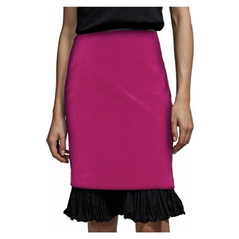 Růžová sametová sukně - KARL LAGERFELD