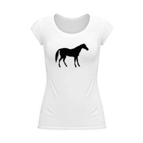 Dámské tričko velký výstřih Kůň