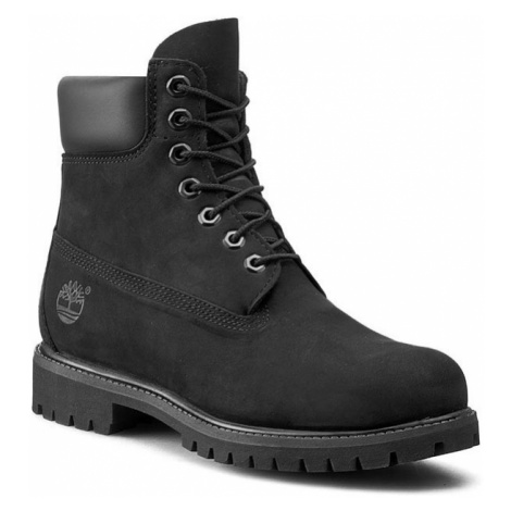 """Timberland Timberland černé kožené kotníkové boty 6"""" Premium Boot"""