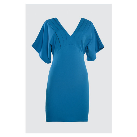 Trendyol Indigo Ribbed Detailed Dress