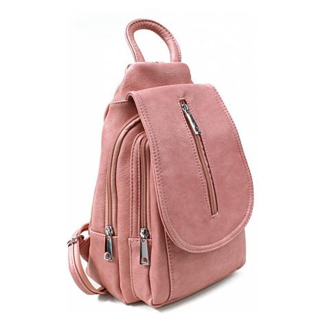 Růžový dámský elegantní batoh Candel Mahel