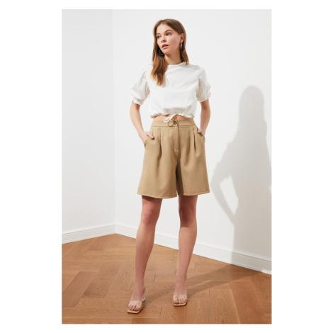 Trendyol Dark Beige Pocket Detailing Shorts & Bermuda