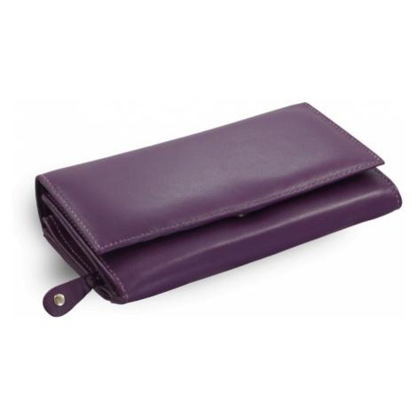 Fialová dámská kožená psaníčková peněženka Imogen Arwel
