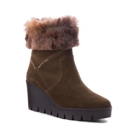Kotníkové boty Lasocki WE102 Přírodní kůže (useň) - Semiš