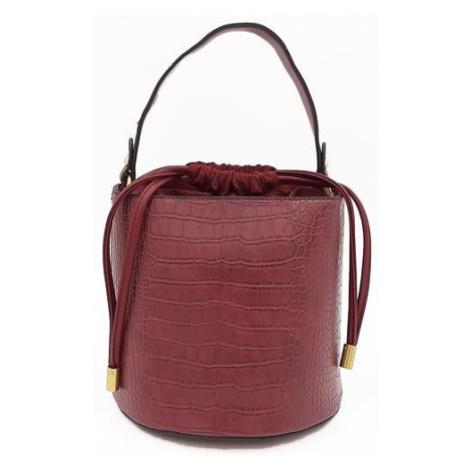 Elegantní oválná kabelka v barvě bordó Bestini