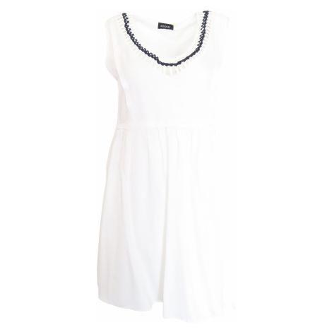 Bílé šaty se zdobeným výstřihem Kookai Kookaï