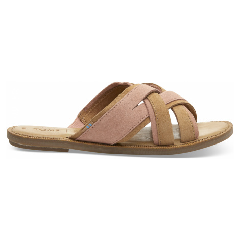Coral Pink Suede Women Val Sand Toms