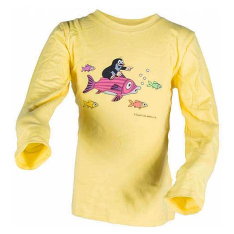 tričko dívčí KRTEK FISH, Pidilidi, 2016, žlutá