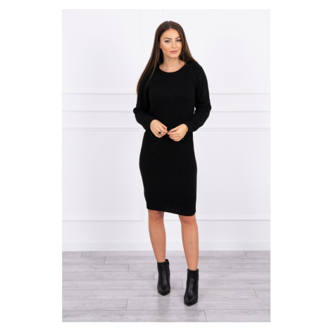 Striped sweater dress black Kesi