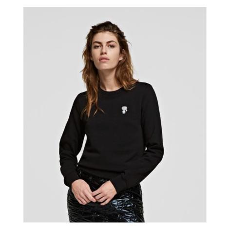 Mikina Karl Lagerfeld Mini Ikonik Karl Patch Sweat - Černá