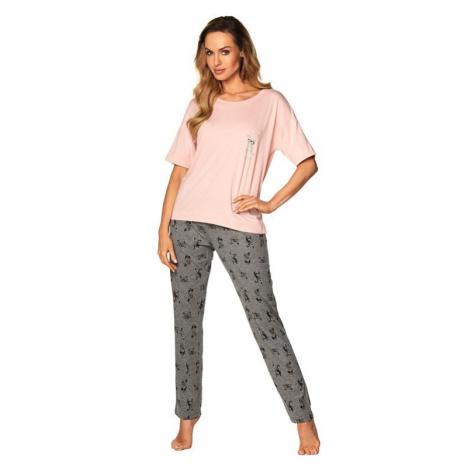 Dámské pyžamo Taylor růžové Rossli