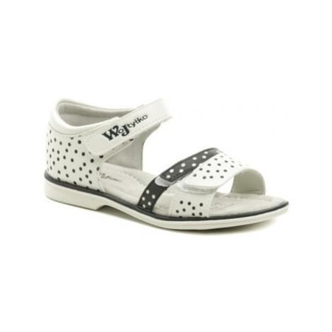 Wojtylko 3S1228 bílé dívčí sandálky Bílá