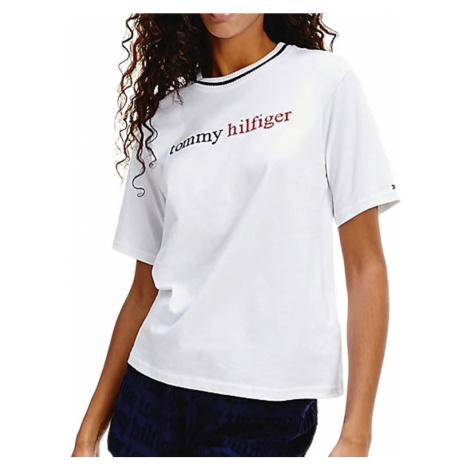 Tommy Hilfiger dámské tričko bílé - Bílá