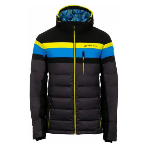 ALPINE PRO NEITH Pánská lyžařská bunda MJCM311990 černá