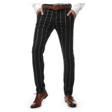 Dstreet Černé elegantní kalhoty