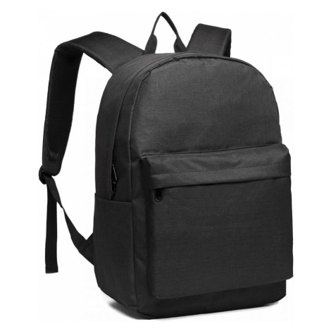 Černý praktický studentský batoh Aksah Lulu Bags