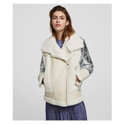 Bunda Karl Lagerfeld Faux Fur Biker Jacket - Různobarevná