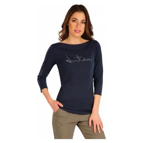 LITEX Tričko dámské s 3/4 rukávem 7A365514 tmavě modrá