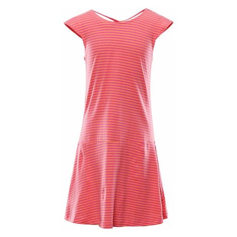 Dětské letní šaty Alpine Pro REATO - růžovo-oranžová