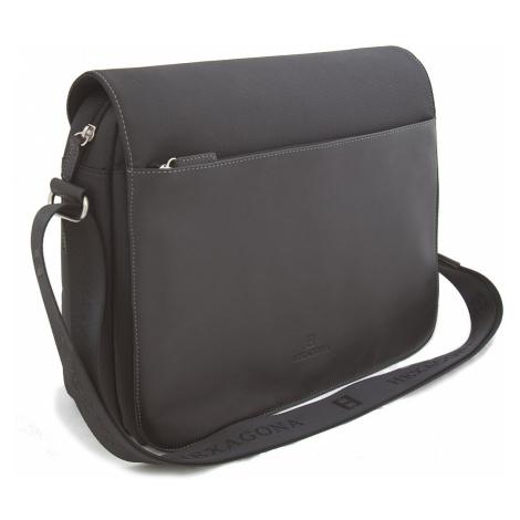 Černá pánská kožená taška Hexagona 292682