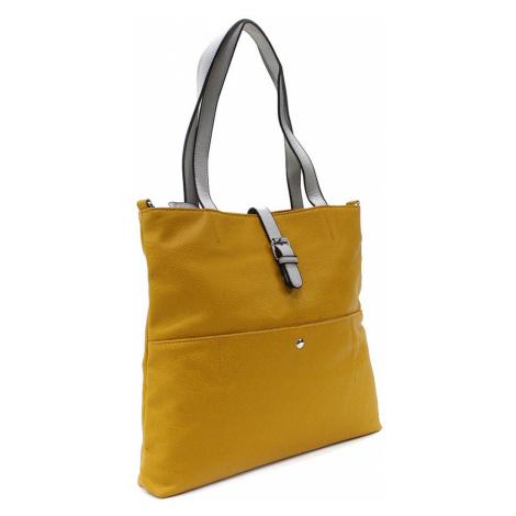 Žlutá elegantní velká dámská kabelka Moreen L a H - Miss Moda (PL)