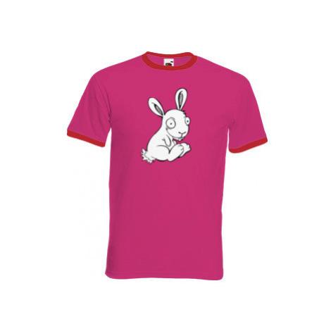 Pánské tričko s kontrastními lemy Zajíček