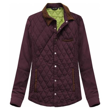 Prošívaná bunda v barvě s límcem (25004LJ)