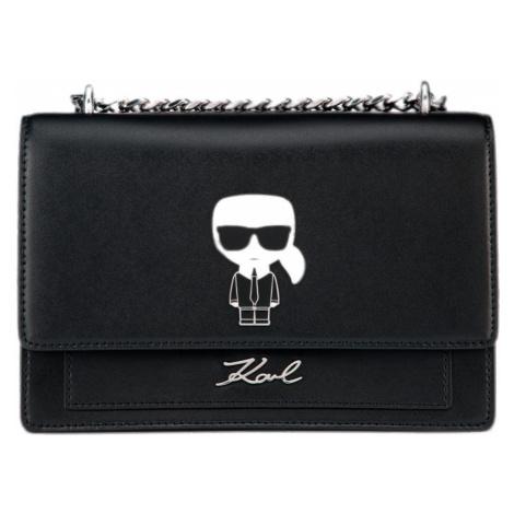 Černá kožená kabelka KARL LAGERFELD ikonik