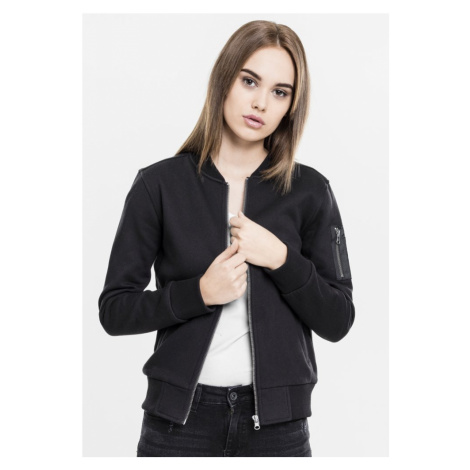 Bunda Ladies Sweat Bomber Jacket - black Urban Classics