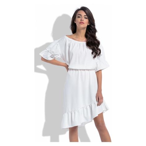 Smetanové šaty F527 Fobya