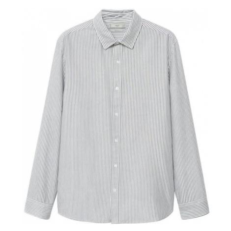 MANGO MAN Košile 'Kodak' bílá / šedá