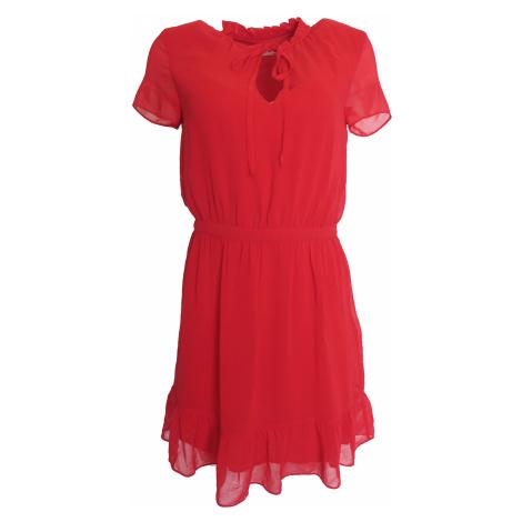 Letní červené šaty Naf Naf