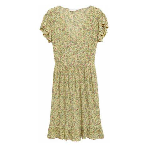 MANGO Letní šaty 'GRACIOSA' žlutá / růžová / modrá / šedá