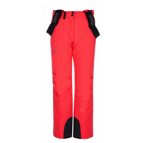KILPI Dívčí lyžařské kalhoty ELARE-JG LJ0007KIPNK Růžová