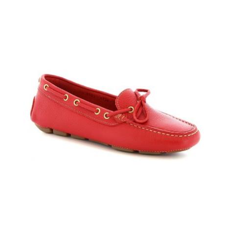 Leonardo Shoes 7502A MOUSSE ROSSO Červená