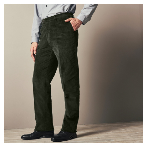 Blancheporte Manšestrové kalhoty s pružným pasem zelená