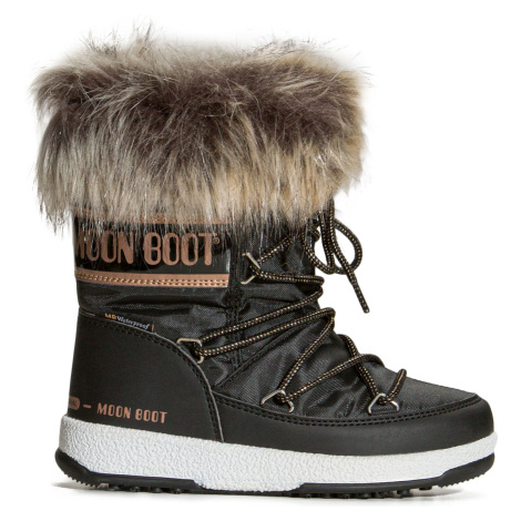 Boty Moon Boot JR GIRL MONACO LOW WP černá