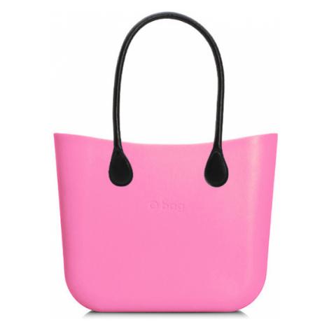 Kabelka obag mini pink s držadlem koženka černá O bag