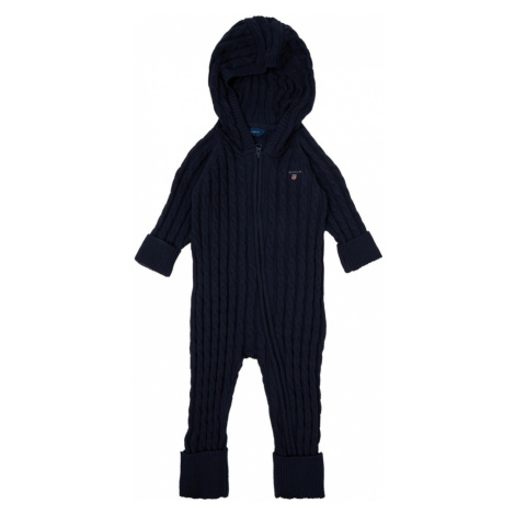 SVETR GANT D1. COTTON CABLE ZIP COVERALL