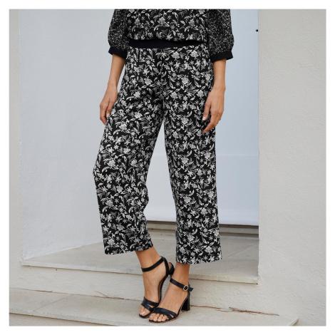 Blancheporte 3/4 kalhoty s potiskem černá/bílá