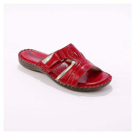 Blancheporte Kožené pantofle, červené červená
