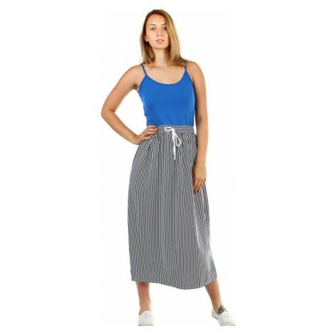 Dámské dlouhé šaty s proužkami