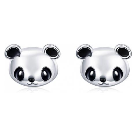 Linda's Jewelry Stříbrné náušnice Panda Pecky Ag 925/1000 IN227